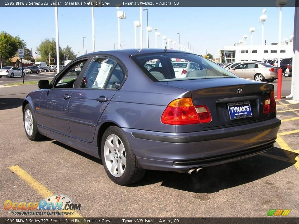1999 bmw 3 series 323i sedan steel blue metallic grey. Black Bedroom Furniture Sets. Home Design Ideas