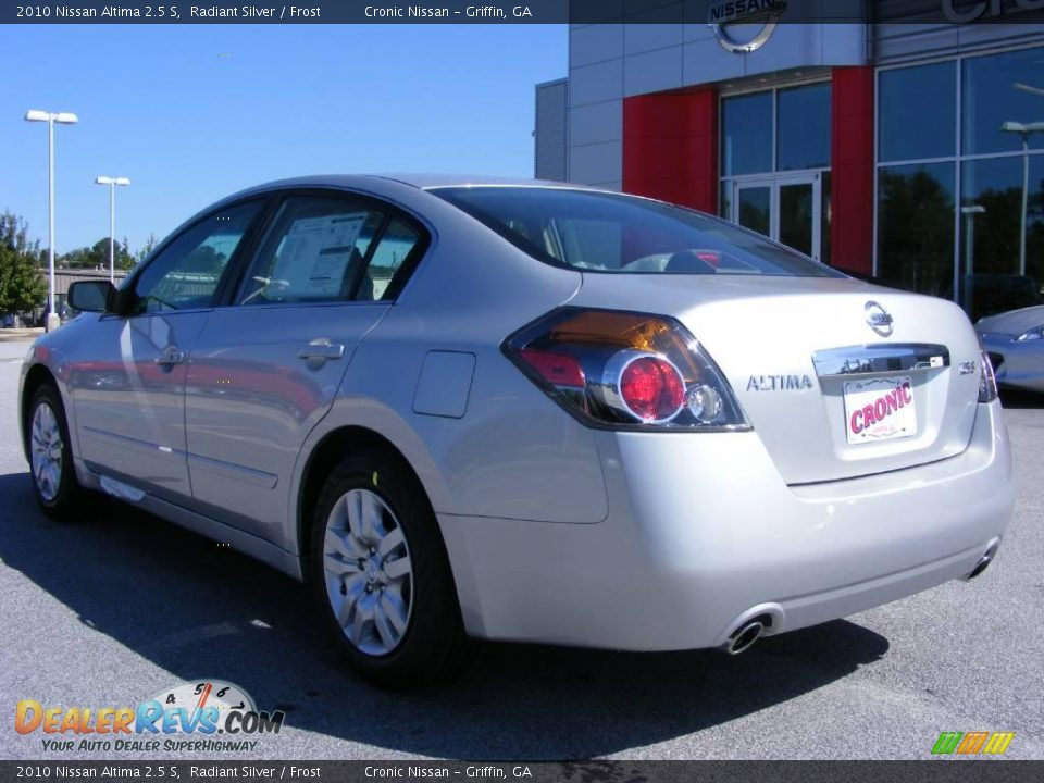 2010 Nissan Altima 2 5 S Radiant Silver Frost Photo 8