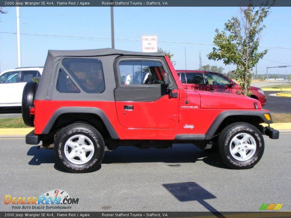 2000 jeep wrangler se 4x4 flame red agate photo 15. Black Bedroom Furniture Sets. Home Design Ideas