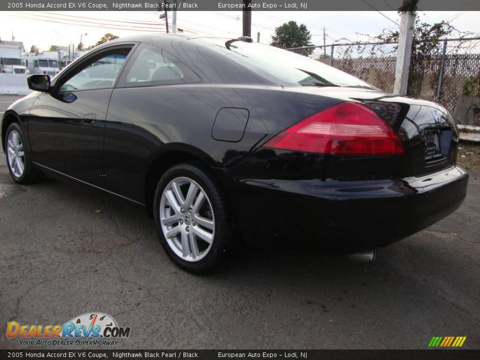 2005 honda accord ex v6 coupe nighthawk black pearl black photo 3. Black Bedroom Furniture Sets. Home Design Ideas