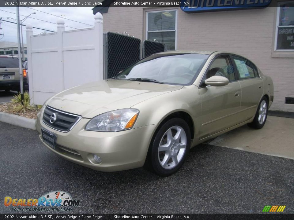 2002 nissan altima 3 5 se velvet beige blond beige photo. Black Bedroom Furniture Sets. Home Design Ideas