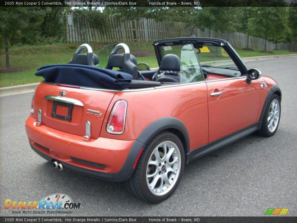 2005 mini cooper s convertible hot orange metallic sunrise dark blue photo 3. Black Bedroom Furniture Sets. Home Design Ideas