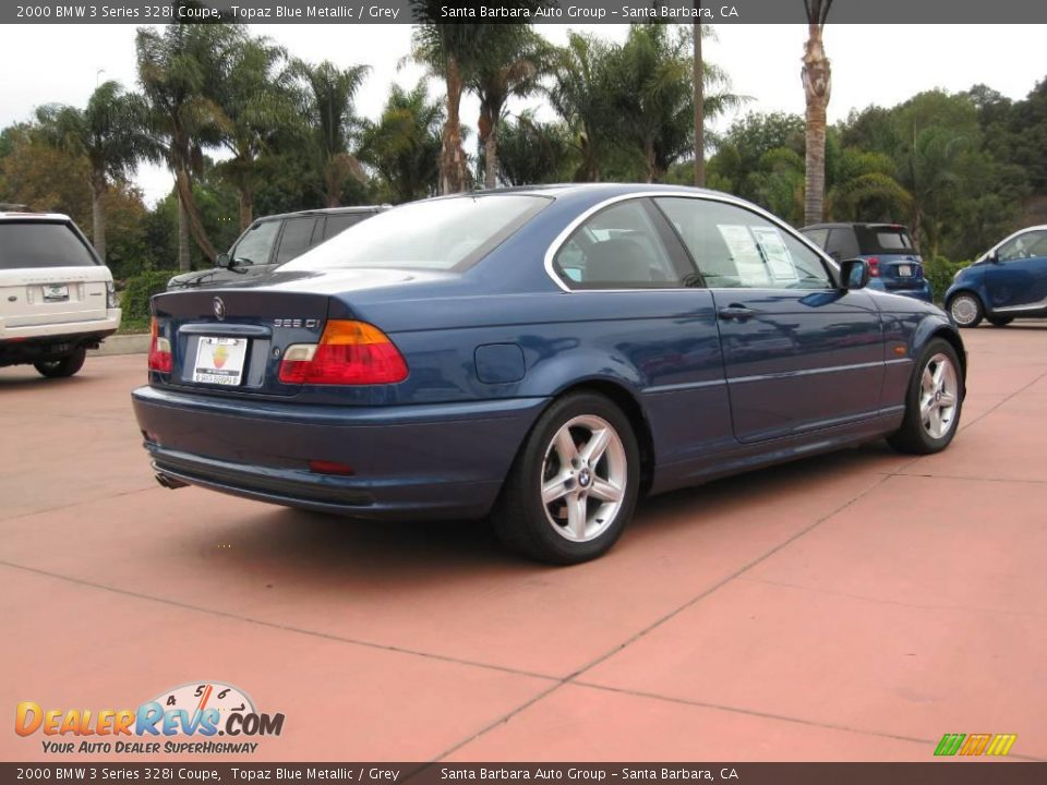 2000 Bmw 3 Series 328i Coupe Topaz Blue Metallic Grey