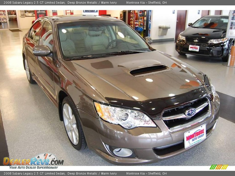 2008 subaru legacy 2 5 gt limited sedan deep bronze metallic warm ivory photo 4. Black Bedroom Furniture Sets. Home Design Ideas
