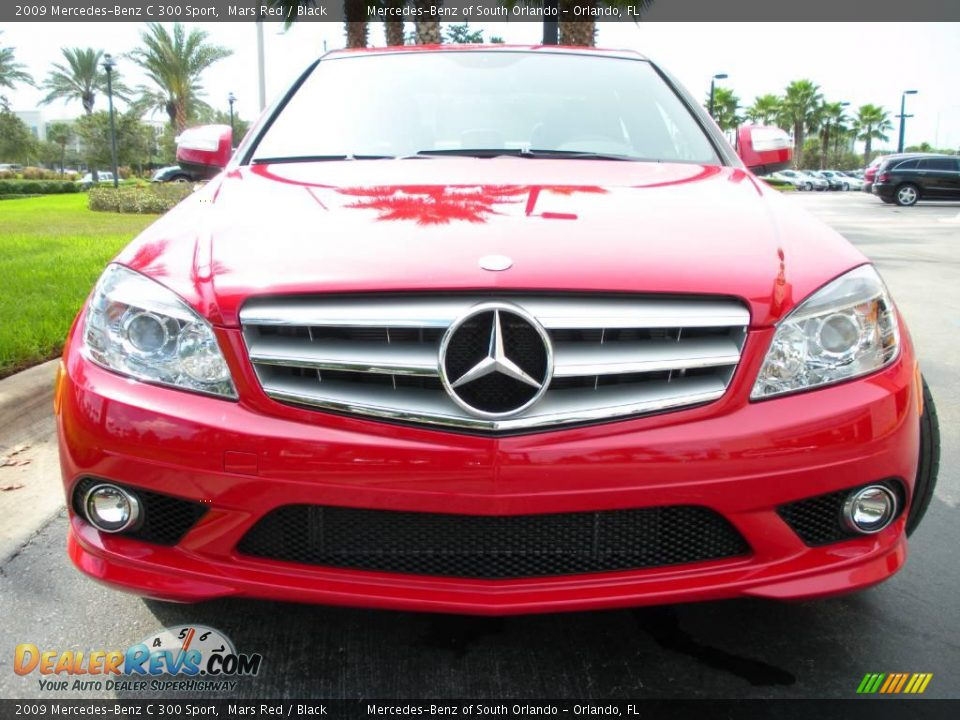 2009 mercedes benz c 300 sport mars red black photo 3 for 2009 mercedes benz c 300