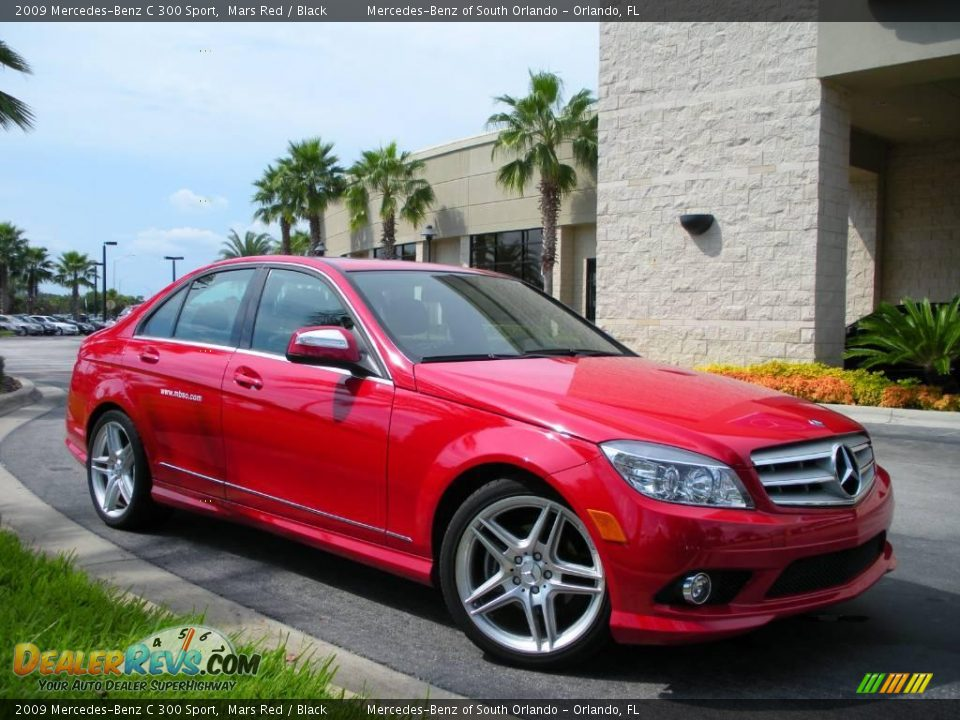 2009 mercedes benz c 300 sport mars red black photo 4 for 2009 mercedes benz c 300