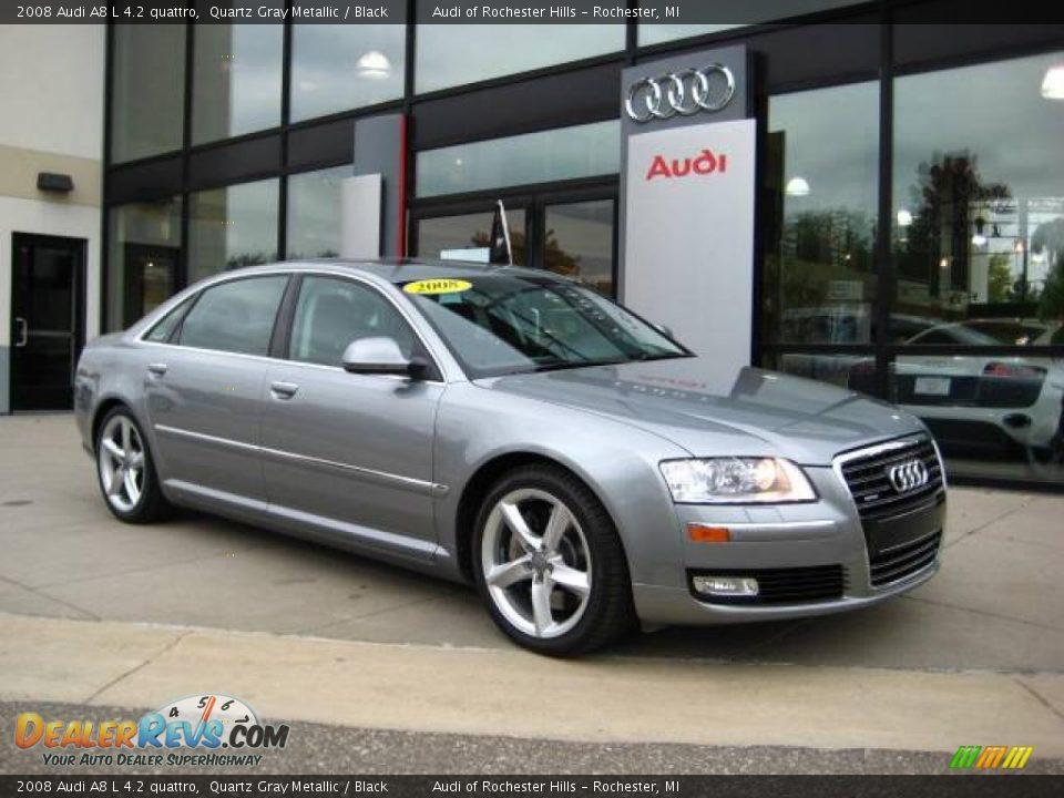 2008 Audi A8 L 4 2 Quattro Quartz Gray Metallic Black