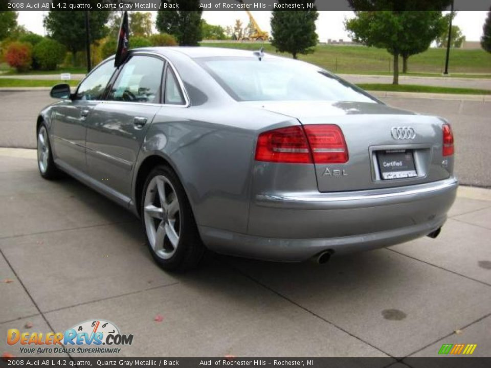 2008 Audi A8 L 4 2 Quattro Quartz Gray Metallic Black