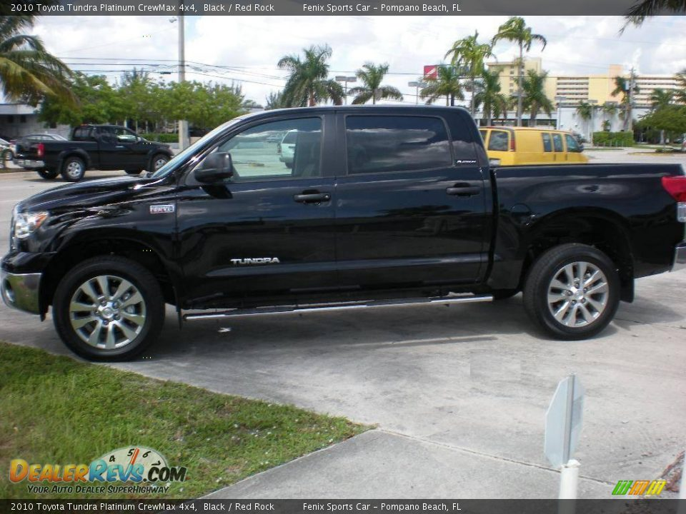 2010 Toyota Tundra Platinum Crewmax 4x4 Black Red Rock