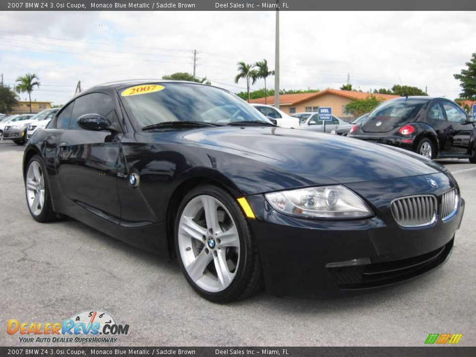 2007 Bmw Z4 3 0si Coupe Monaco Blue Metallic Saddle