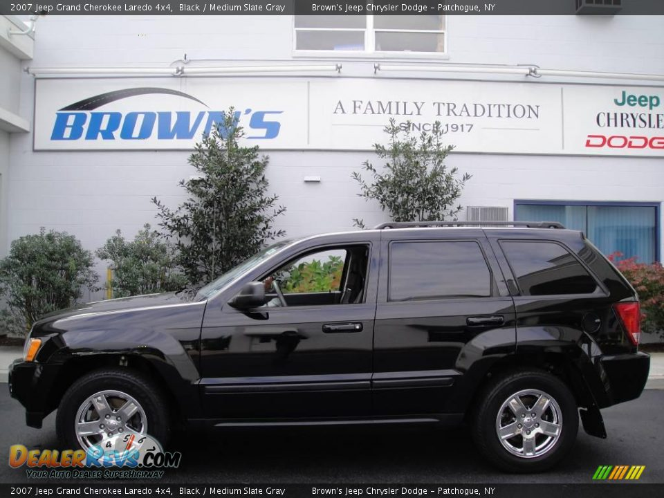 2007 jeep grand cherokee laredo 4x4 black medium slate gray photo 1. Black Bedroom Furniture Sets. Home Design Ideas