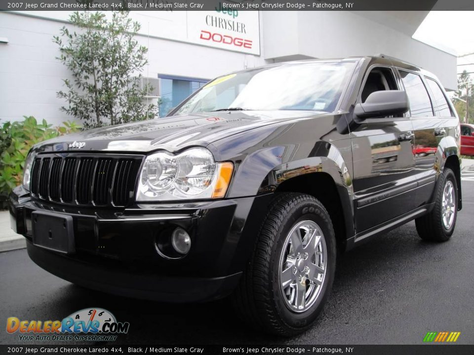 2007 Jeep Grand Cherokee Laredo 4x4 Black Medium Slate