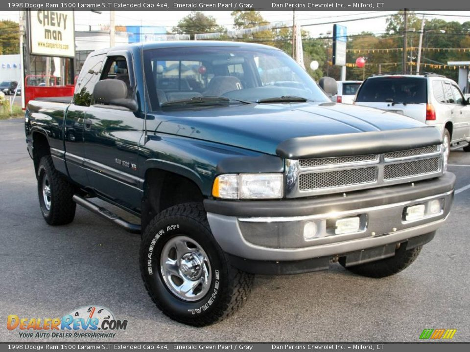 1998 dodge ram 1500 laramie slt extended cab 4x4 emerald green pearl gray photo 3. Black Bedroom Furniture Sets. Home Design Ideas