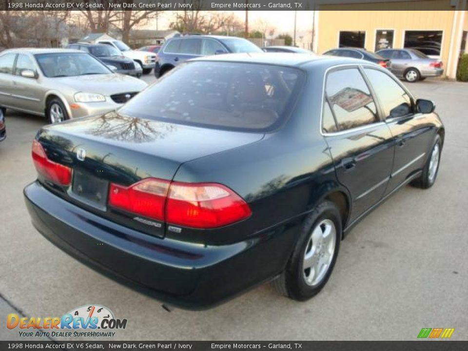 1998 Honda Accord Ex V6 Sedan New Dark Green Pearl Ivory Photo 4