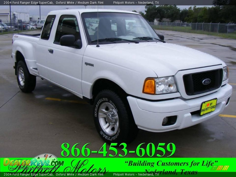 2004 Ford Ranger Edge Supercab Oxford White Medium Dark