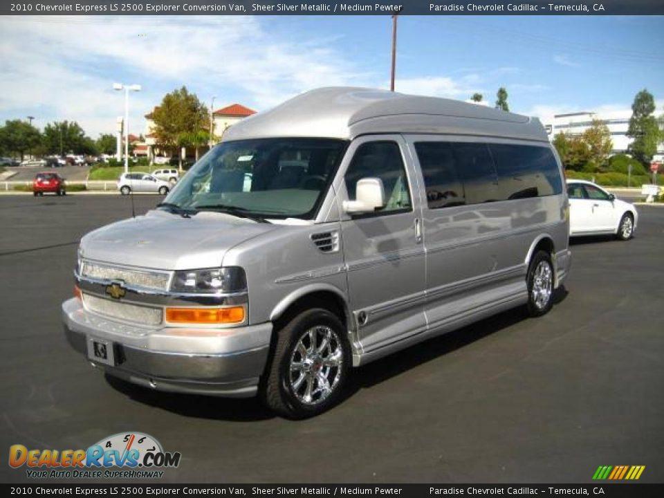 Chevy Express Van >> 2010 Chevrolet Express LS 2500 Explorer Conversion Van Sheer Silver Metallic / Medium Pewter ...