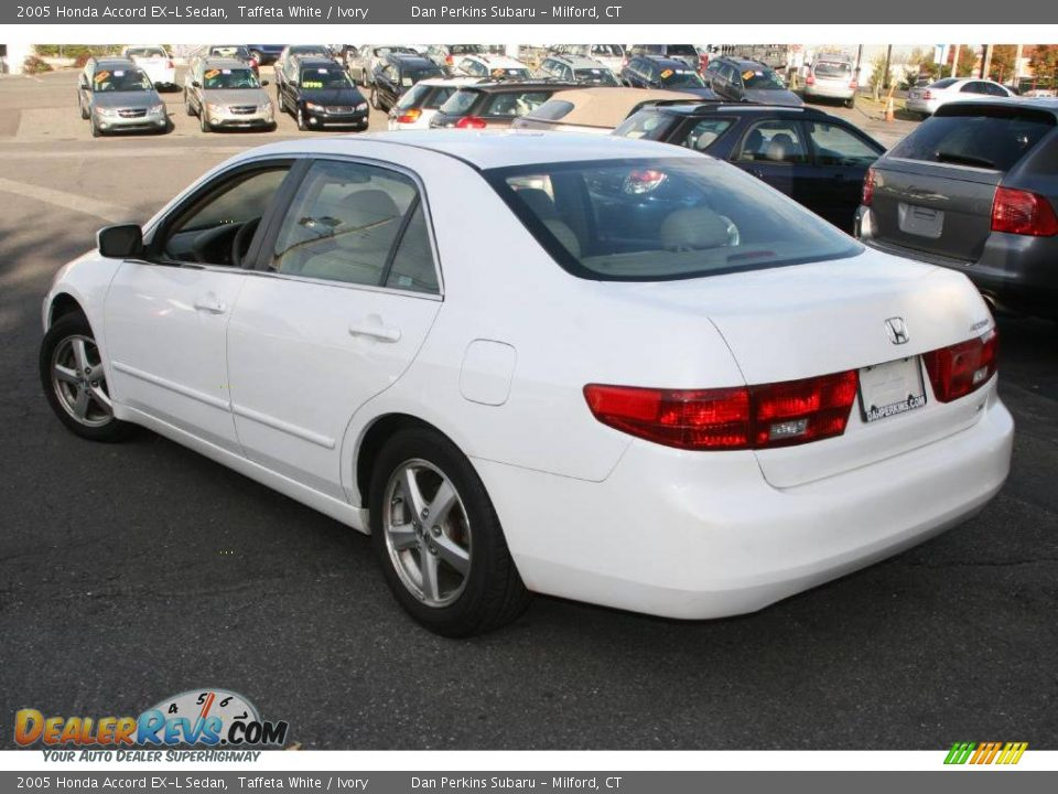 2005 honda accord ex l sedan taffeta white ivory photo. Black Bedroom Furniture Sets. Home Design Ideas