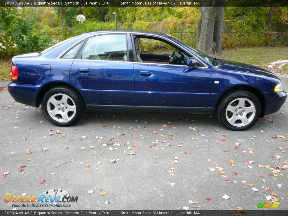 2000 audi a4 2 8 quattro sedan santorin blue pearl ecru. Black Bedroom Furniture Sets. Home Design Ideas