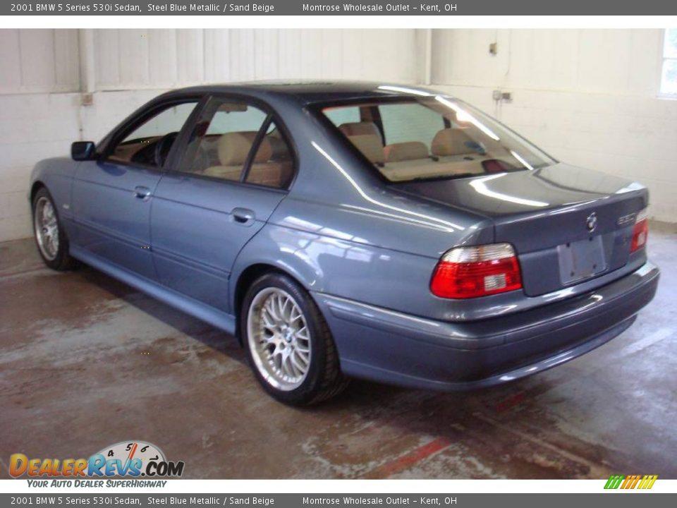 2001 Bmw 5 Series 530i Sedan Steel Blue Metallic Sand Beige Photo