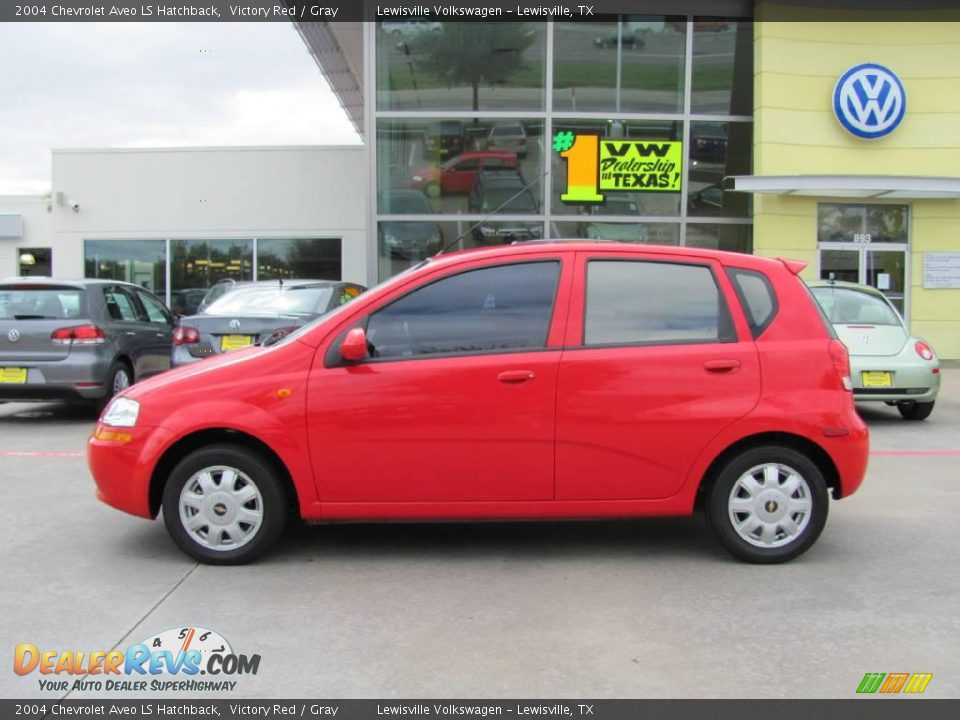 2004 Chevrolet Aveo LS Hatchback Victory Red / Gray Photo #2 ...