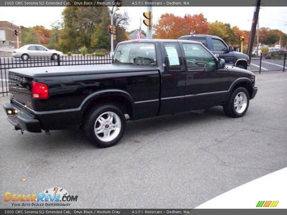 2003 gmc sonoma sls extended cab onyx black medium gray photo 6. Black Bedroom Furniture Sets. Home Design Ideas