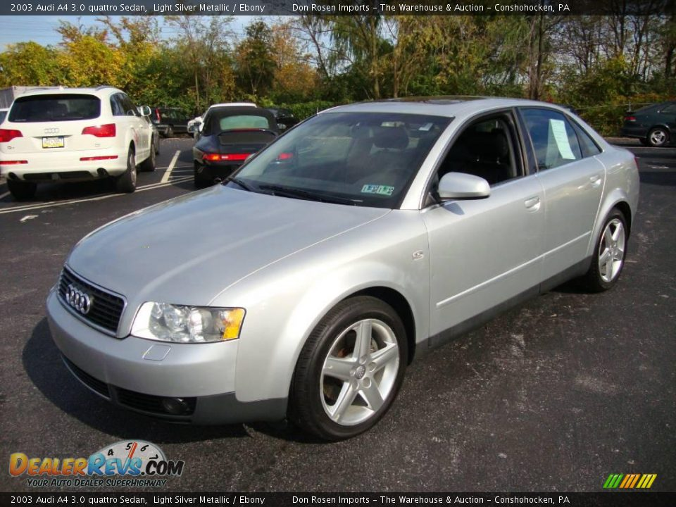 2003 audi a4 3 0 quattro sedan light silver metallic. Black Bedroom Furniture Sets. Home Design Ideas