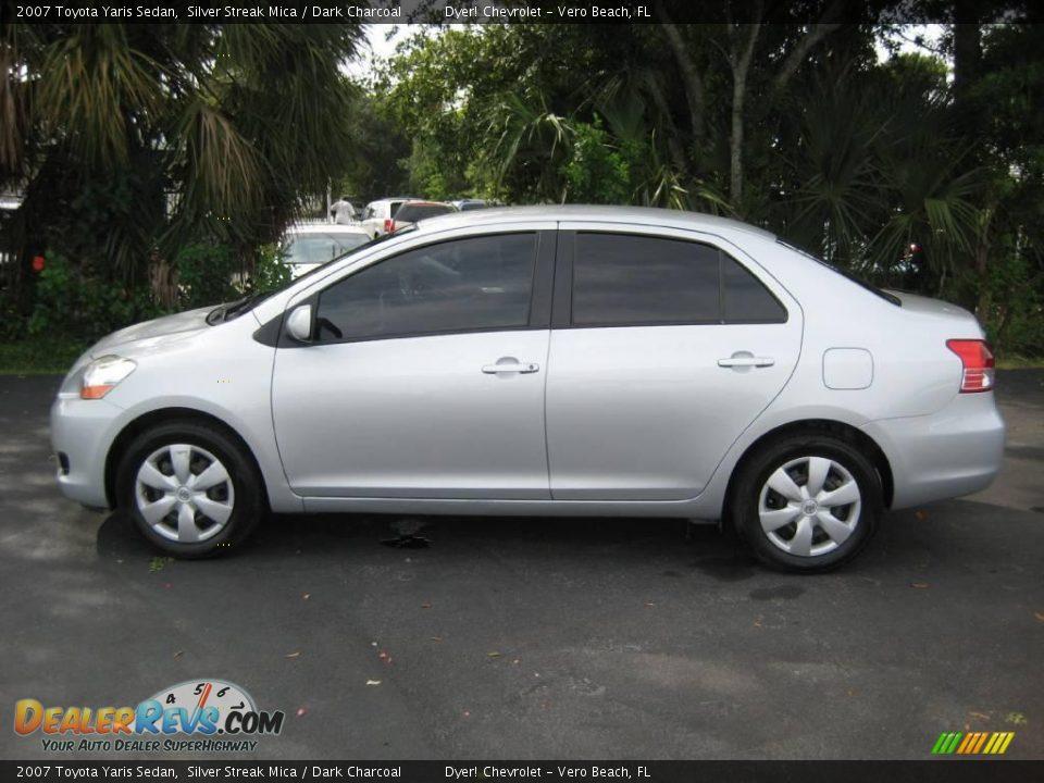 2007 Toyota Yaris Sedan Silver Streak Mica Dark Charcoal