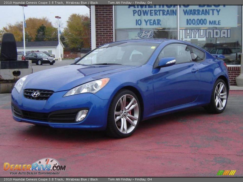 2010 hyundai genesis coupe 3 8 track mirabeau blue black photo 1. Black Bedroom Furniture Sets. Home Design Ideas