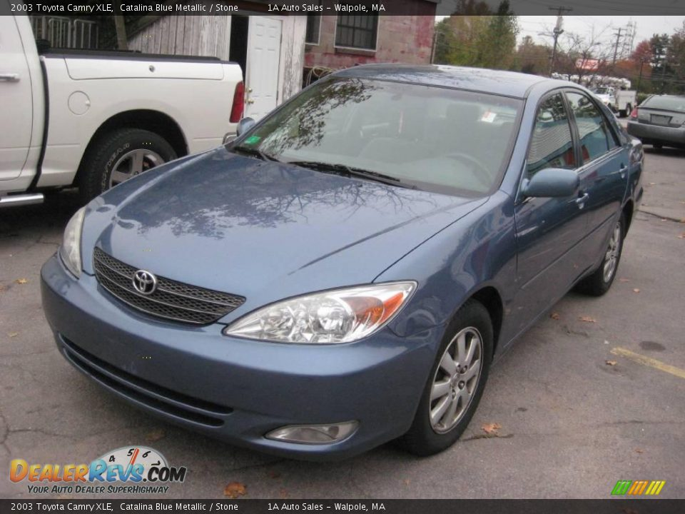 2003 toyota camry xle catalina blue metallic stone photo 1. Black Bedroom Furniture Sets. Home Design Ideas