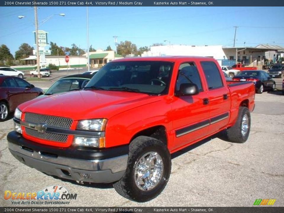 2004 chevrolet silverado 1500 z71 crew cab 4x4 victory red medium gray photo 1. Black Bedroom Furniture Sets. Home Design Ideas