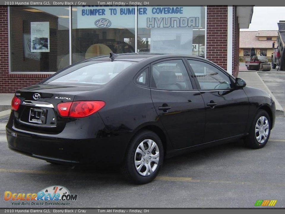 2010 Hyundai Elantra GLS Ebony Black / Gray Photo #3 ...