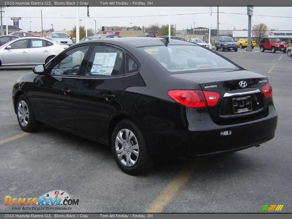 2010 Hyundai Elantra GLS Ebony Black / Gray Photo #5 ...