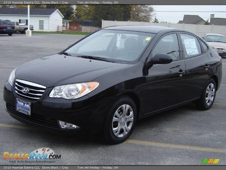 2010 Hyundai Elantra GLS Ebony Black / Gray Photo #7 ...