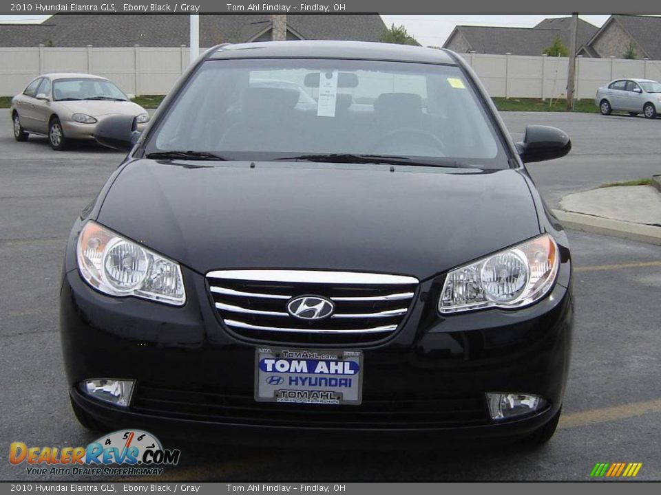 2010 Hyundai Elantra GLS Ebony Black / Gray Photo #8 ...