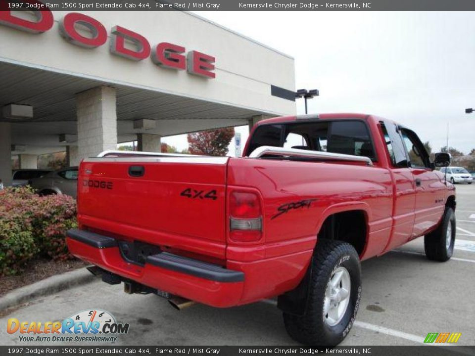 1997 dodge ram 1500 sport extended cab 4x4 flame red mist gray photo 4. Black Bedroom Furniture Sets. Home Design Ideas