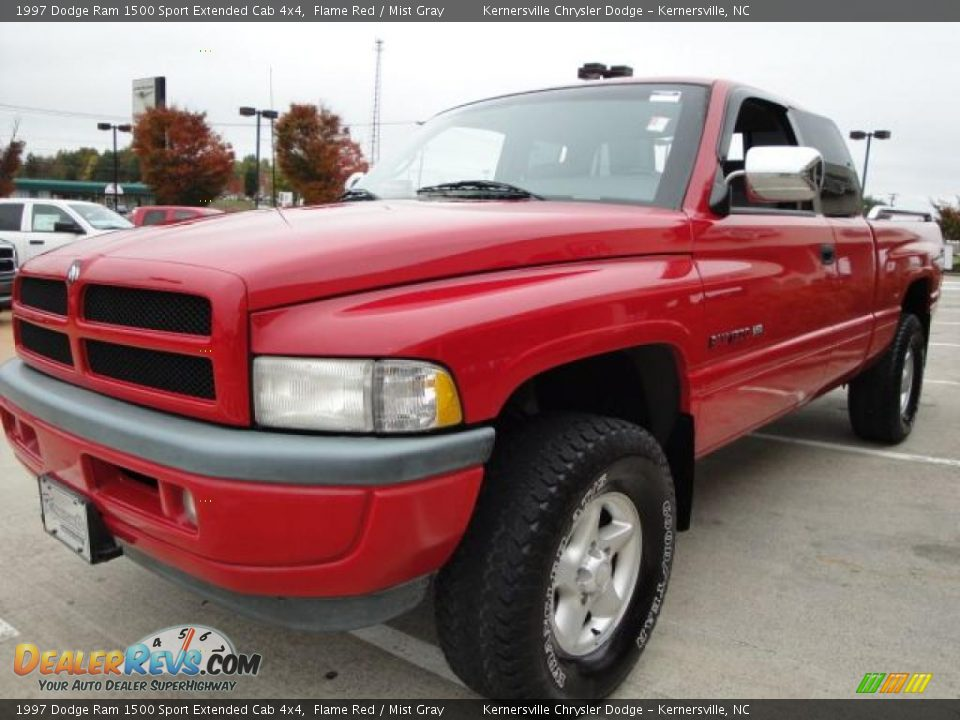 1997 dodge ram 1500 sport extended cab 4x4 flame red mist gray photo 8. Black Bedroom Furniture Sets. Home Design Ideas