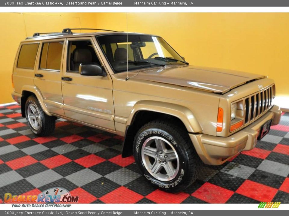 2000 Jeep Cherokee Classic 4x4 Desert Sand Pearl Camel