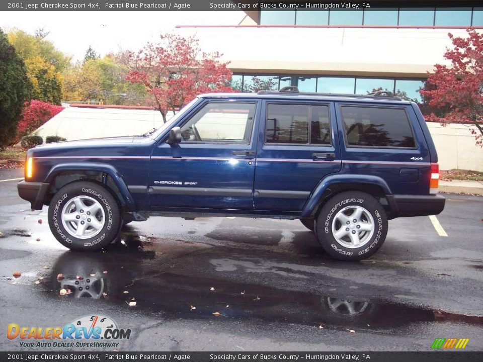2001 jeep cherokee sport 4x4 patriot blue pearlcoat agate photo 3. Cars Review. Best American Auto & Cars Review