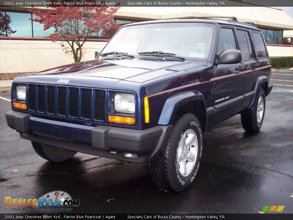 2001 jeep cherokee sport 4x4 patriot blue pearlcoat agate photo 6. Cars Review. Best American Auto & Cars Review