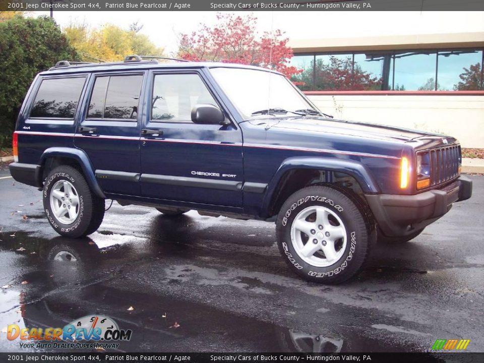 2001 Jeep Cherokee Sport >> 2001 Jeep Cherokee Sport 4x4 Patriot Blue Pearlcoat / Agate Photo #10 | DealerRevs.com