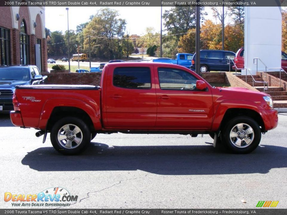 2008 toyota tacoma v6 trd sport double cab 4x4 radiant red graphite gray photo 17. Black Bedroom Furniture Sets. Home Design Ideas
