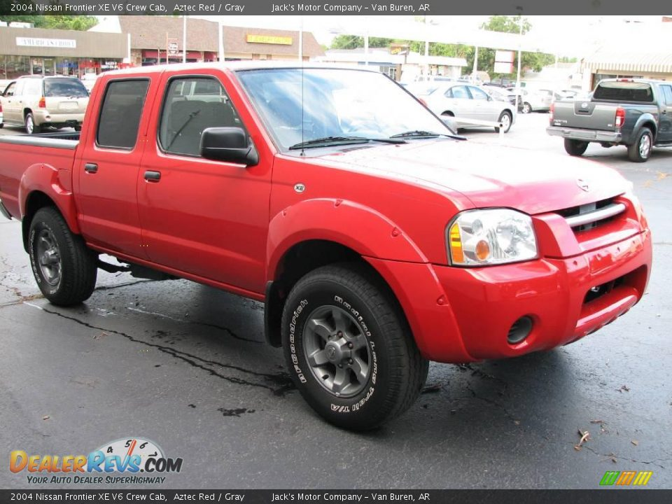 2004 nissan frontier xe v6 crew cab aztec red gray photo 4. Black Bedroom Furniture Sets. Home Design Ideas