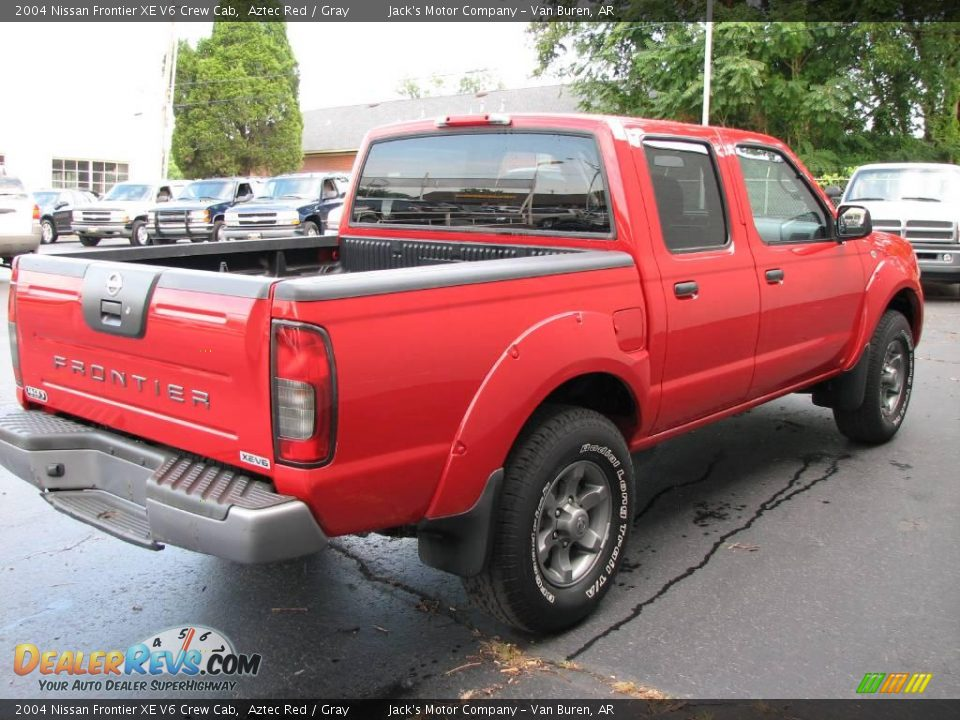 2004 nissan frontier xe v6 crew cab aztec red gray photo 5. Black Bedroom Furniture Sets. Home Design Ideas