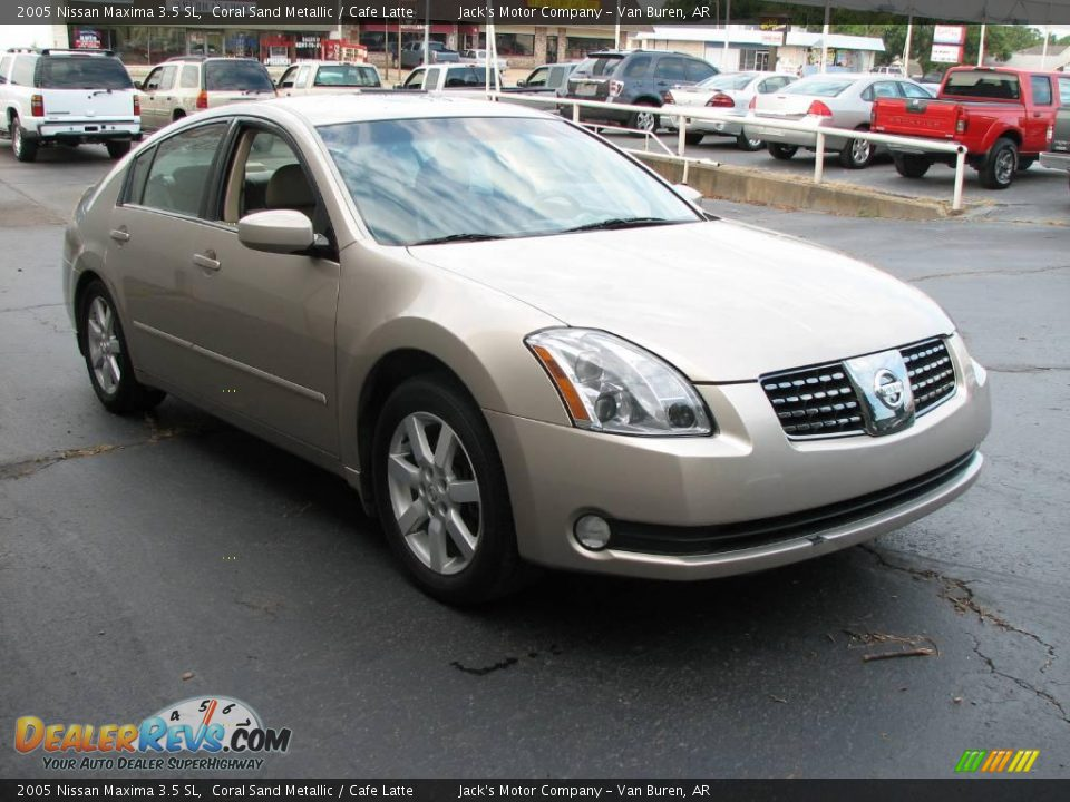 2005 nissan maxima 3 5 sl coral sand metallic cafe latte. Black Bedroom Furniture Sets. Home Design Ideas