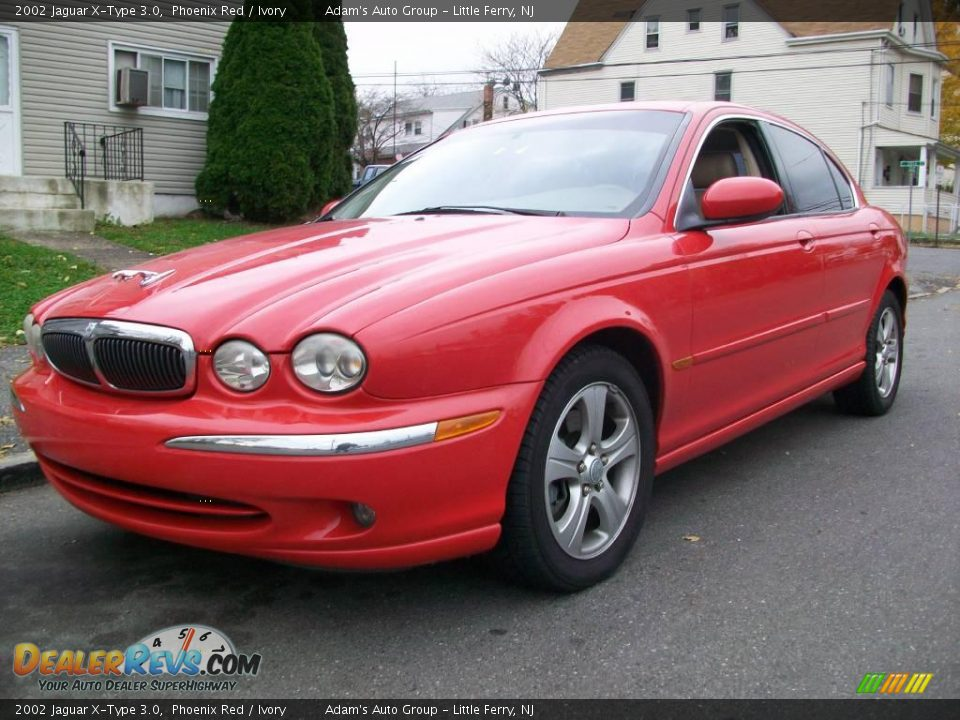 2002 jaguar x type 3 0 phoenix red ivory photo 2. Black Bedroom Furniture Sets. Home Design Ideas