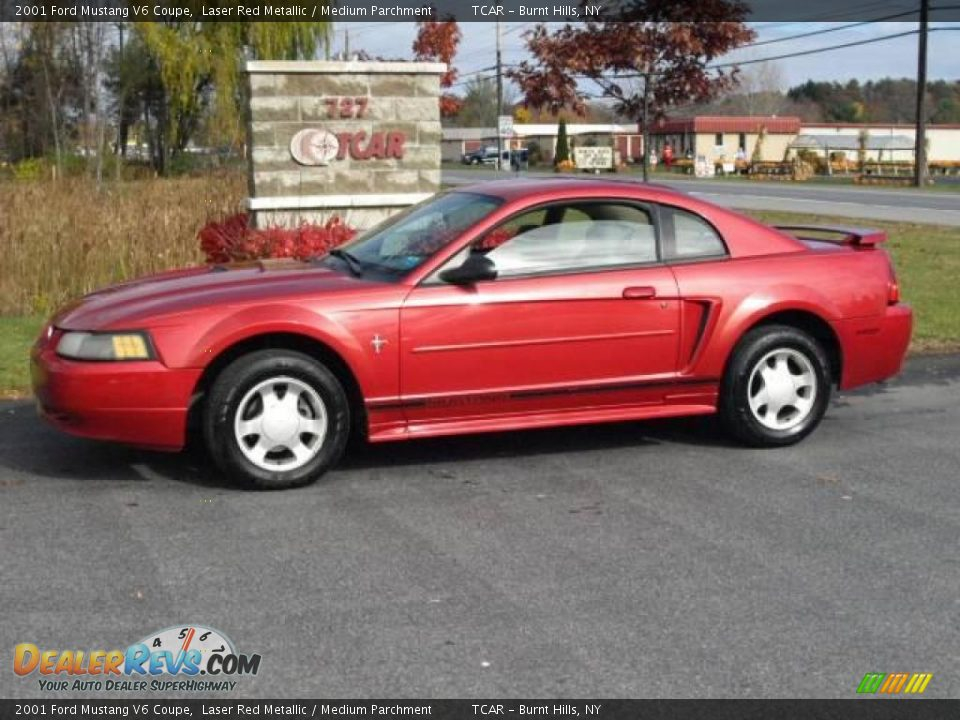2001 ford mustang v6 coupe laser red metallic medium. Black Bedroom Furniture Sets. Home Design Ideas