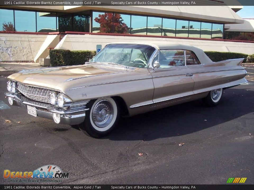 1961 Cadillac Eldorado Biarritz Convertible Aspen Gold / Tan Photo #1 ...