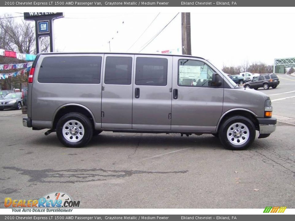 2010 chevrolet express lt 1500 awd passenger van graystone metallic medium pewter photo 4. Black Bedroom Furniture Sets. Home Design Ideas