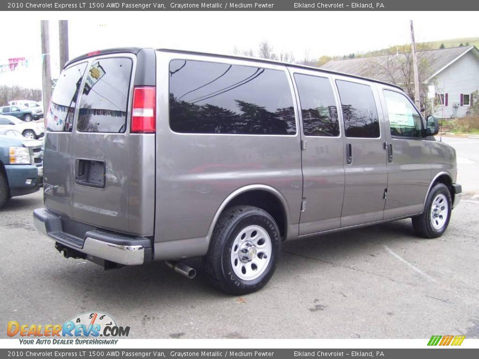 2010 chevrolet express lt 1500 awd passenger van graystone metallic medium pewter photo 5. Black Bedroom Furniture Sets. Home Design Ideas