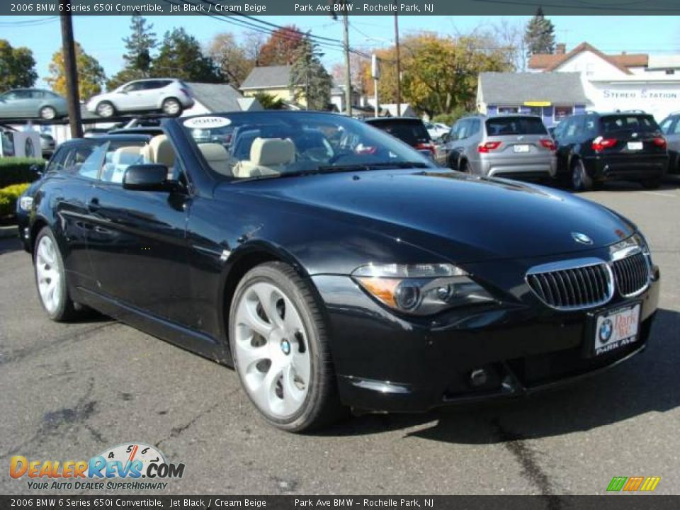 2006 bmw 6 series 650i convertible jet black cream beige photo 3. Black Bedroom Furniture Sets. Home Design Ideas